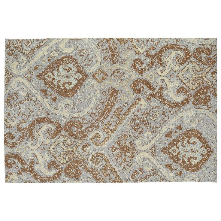 Kaleen Cozy Toes Transitions Damask Rug, Brown