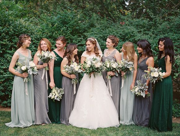 Soft grey, blue and sage green #wedding inspiration