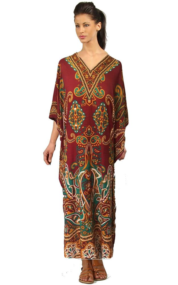 Free Size Kaftan  Beach Cover up fits 14,16,18,20,22,24,