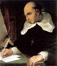 """Bartolomé de las Casas,  Considerava então que os únicos donos do Novo Mundo eram os índios e que os espanhóis só deviam lá ir para o trabalho de conversão. Renunciou a todas as suas encomiendas e iniciou uma campanha de defesa dos índios, mostrando tudo de injusto do sistema. A campanha foi dirigida ao próprio rei de Aragão Fernando II e depois ao Cardeal Cisneros, que viria a nomeá-lo """"protetor dos índios"""" em 1516."""