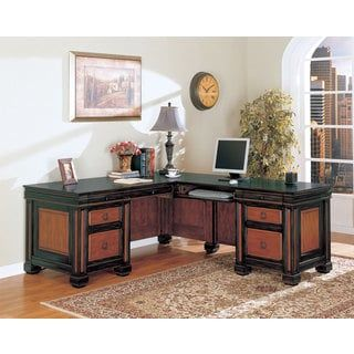 Shop for Coaster Company Black/ Cherry L-shaped Desk. Get free shipping at Overstock.com - Your Online Furniture Outlet Store! Get 5% in rewards with Club O! - 19174044