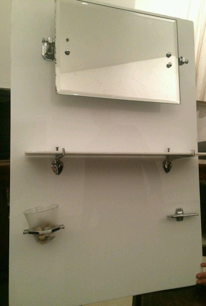Art deco bathroom mirror and shelf 1930s