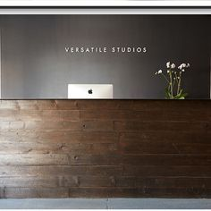 Reclaimed Wood/steel top reception desk