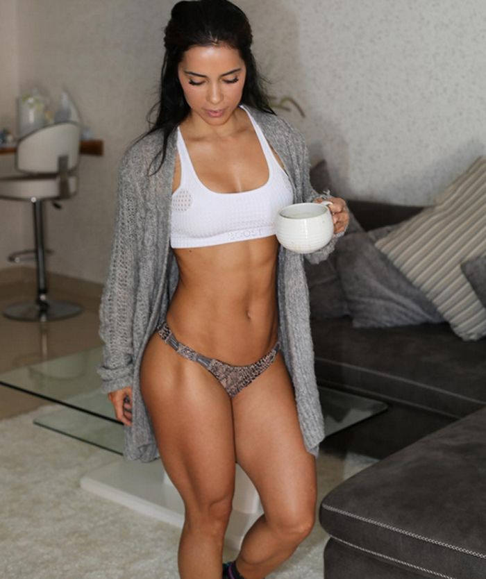 Think our WCW Andreia Brazier is sipping pre-workout?
