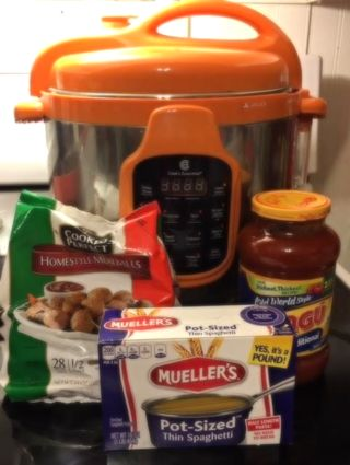 Pressure Cooker Spaghetti & Meatballs