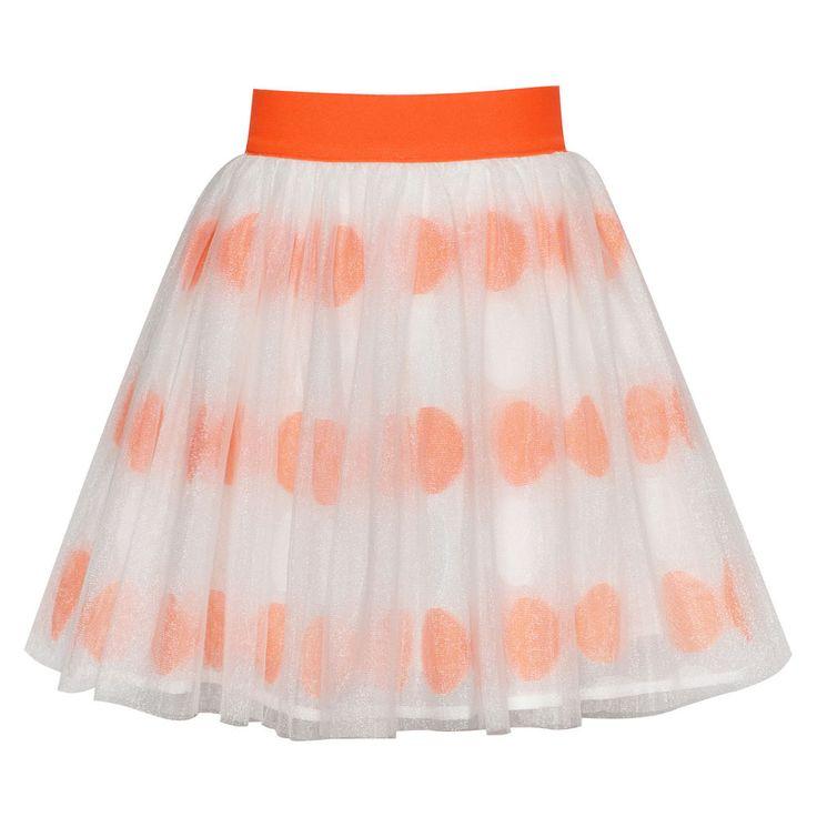 Sunny Fashion Filles Jupe Orange Arc Attacher Pétillant Tutu Danse Habiller