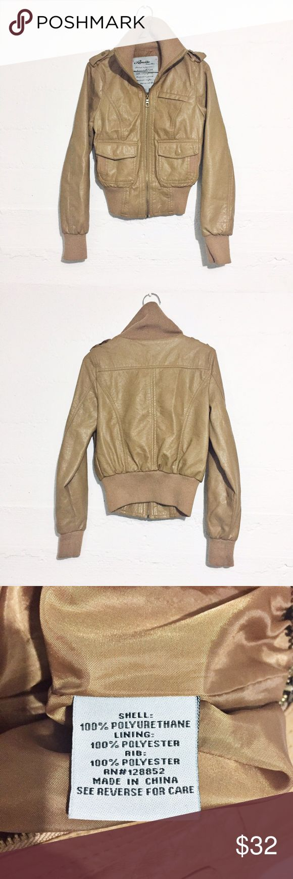 🚨CLEARANCE Aviator Jacket Vegan leather. Amazing quality. Add it to your weekend wardrobe!! No trades. Clearance-price firm. Jackets & Coats