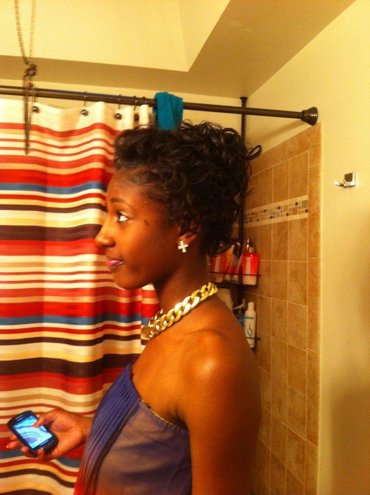 Natural hair w/ wax curls | Be-U-Ti-Ful | Pinterest | Wax