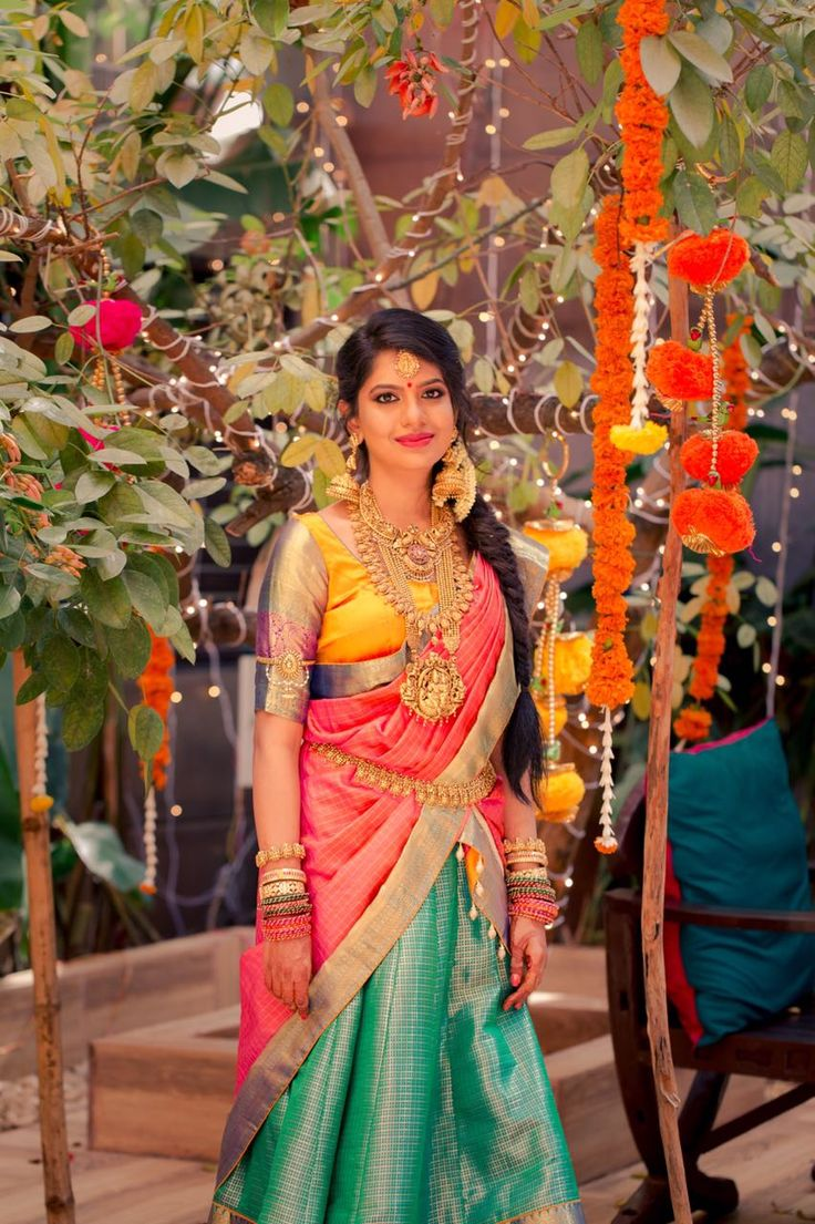 If there is a synonym for grandeur and extravaganza that would be Bhramini - Abhishek's wedding! Look at their wedding pictures and you know they are visual treat for your eyes. They both stole the show with their custom made outfits and jewellery. Bhramini is a sweet, talented girl and we are as impressed with her interesting career as much as her wedding pictures. She is a jewellery designer and a gemologist from Bangalore, studied at GIA NYC. She has her own line of jewellery...