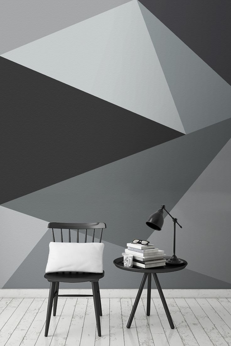 Ready to take monochrome to the next level? This super stylish geometric wallpaper design encompasses sleek lines with a neutral yet beautiful palette of greys. It looks wonderful in living room spaces, and works harmoniously with Scandi interiors.: