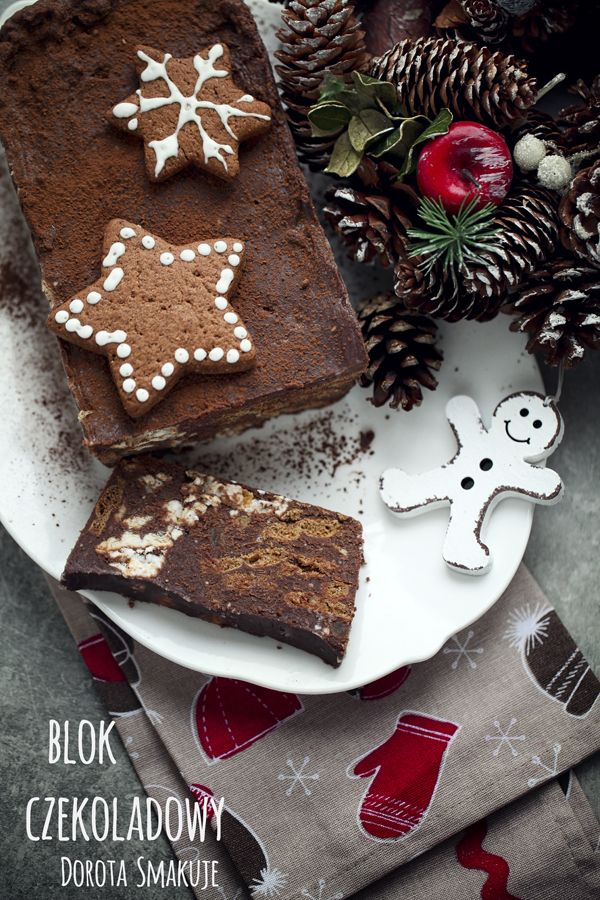 Blok czekoladowy z piernikami