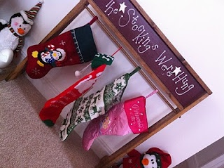 stocking holder for those with no fire place