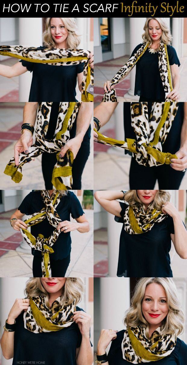 How to tie a Scarf - Infinity Style