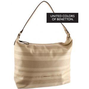 w Ella bebpu0000091 velká dámská béžová kabelka do ruky přes rameno United colors of benetton