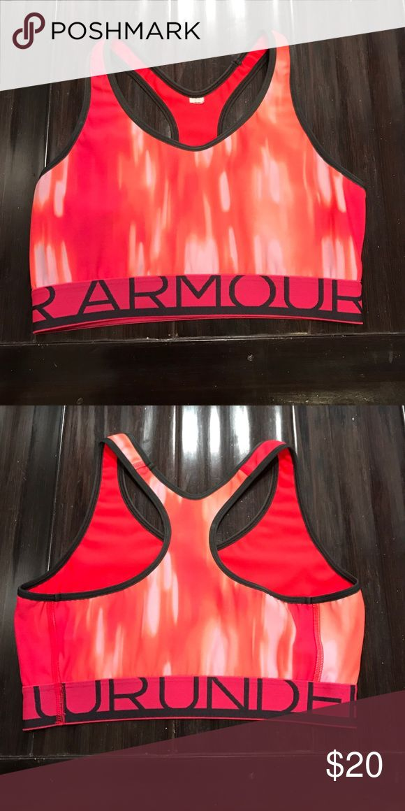 UNDER ARMOUR Women's Orange Cream Sports Bra. Used UNDER ARMOUR Women's Orange Cream Sports Bra. Used. Size small, in great condition. Only worn a few times. Comfortable and light weight. Under Armour Tops Tank Tops