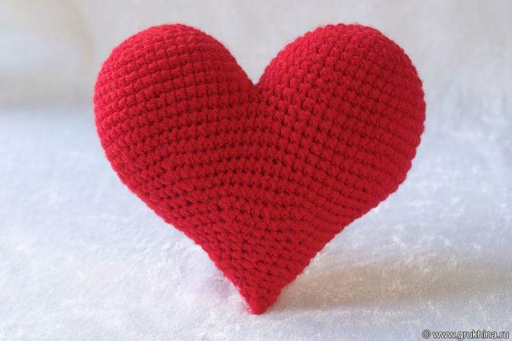 Вязаные сердечки ко Дню Святого Валентина - Вязаные игрушки - Схемы вязания - Авторский проект Натальи Грухиной