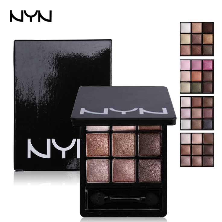 NYN 9 Color Professional Eye Shadow Palette Long Lasting Eyeshadow Giltter With Brush Nude Naked Palette Earth Color Smoky Eyes