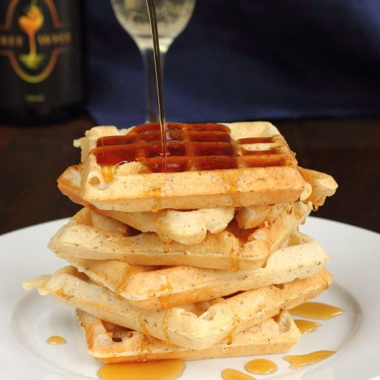 These are the lightest, crispiest waffles ever made with a special, ultra Canadian ingredient! Also vegan!