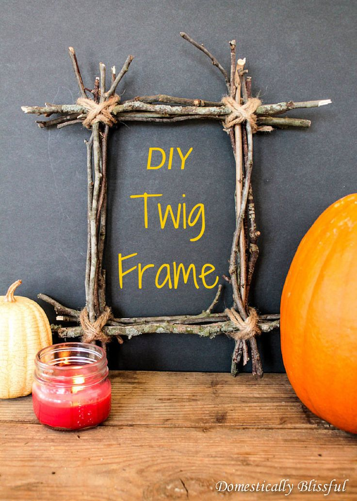 These DIY Twig Frames are one of the most inexpensive projects you can make this fall! Not only are they easy to create, but they can be made by children & adults alike! #falldecor #fall #diy