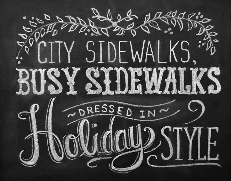 Silver Bells - 11 x 14 Print - Chalkboard Art - Holiday Print - Chalk Art - Christmas Art. $29.00, via Etsy.