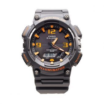 Reloj Casio AQ-S810W-8A Funciona A Energía Solar, Cronometro, Iluminacion LED, Diseño Deportivo