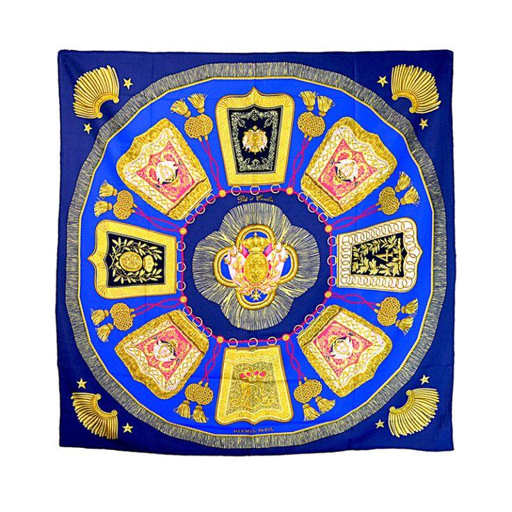 Hermes 'Poste et Cavalerie' Silk Scarf | 1stdibs.com