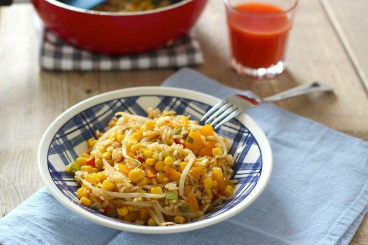 Lekker en Snel: Rijstgerecht met paprika, maïs en rode peper - Lekker en Simpel