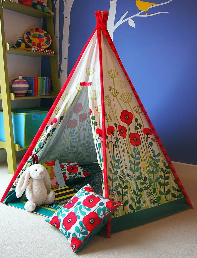 child teepee, mat & cushions poppy design by catching stars | notonthehighstreet.com ... I could make this, right?
