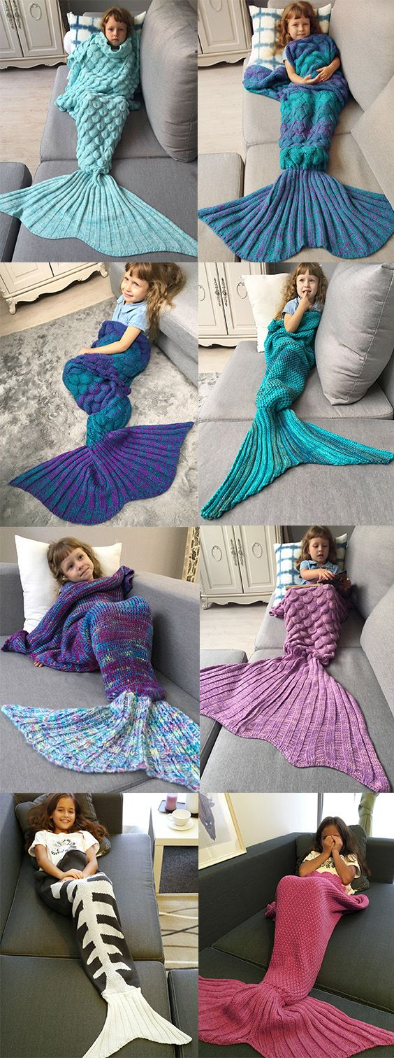 50% OFF Knitted Mermaid Tail Design Blanket,Free Shipping Worldwide.