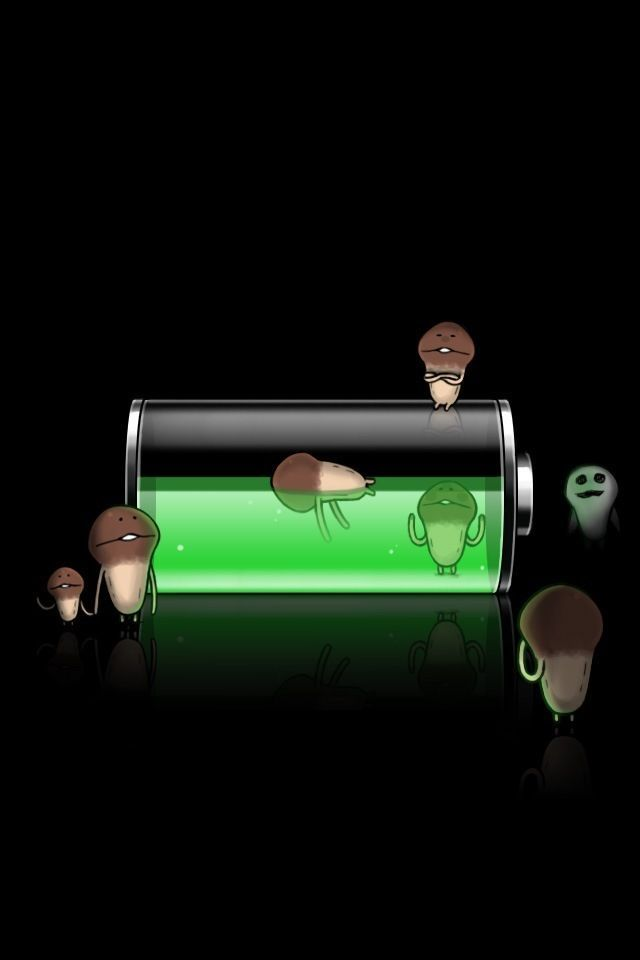 The cutest iPhone Lock Screen Wallpaper ever!  Taken from Nameko Saibai (Mushroom Garden) iPhone App