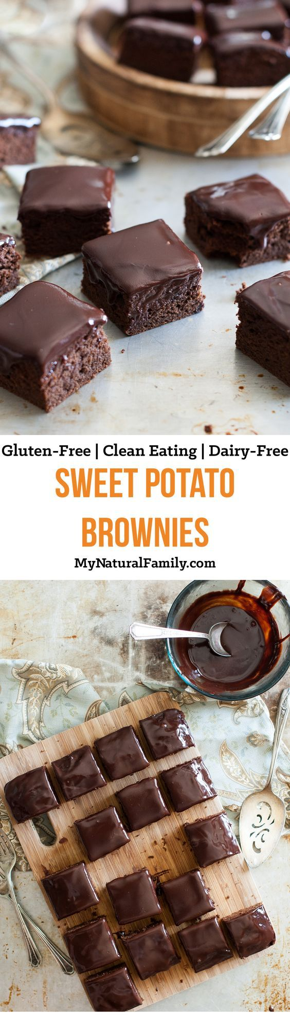 Sweet Potato Brownies Recipe {Clean Eating, Gluten-Free, Dairy-Free}