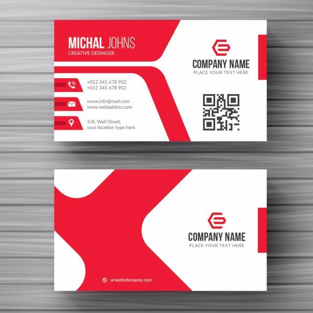 White Business Card With Red Details With Images Cleaning