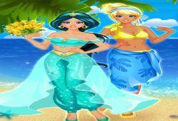 Juego Vestir princesas en la playa Gratis