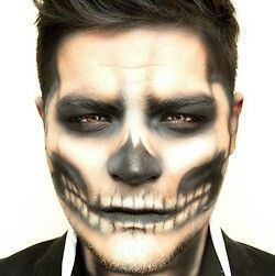 mens halloween makeup: skeleton                                                                                                                                                                                 Mais