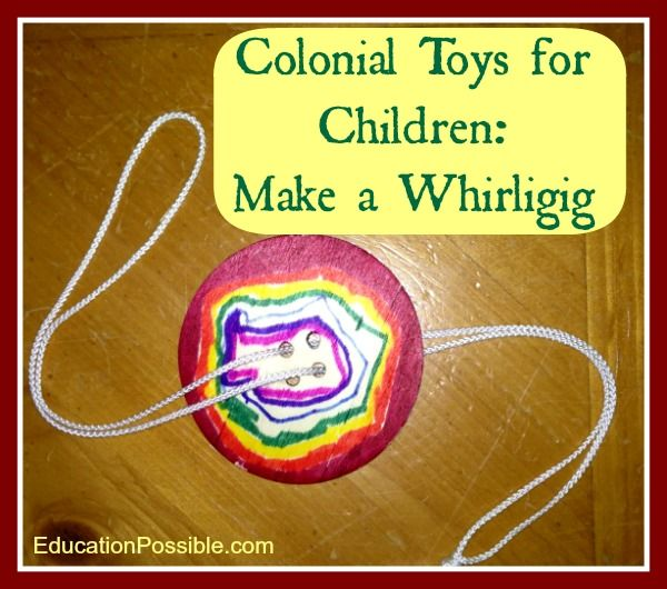 Whirligig, Little Ladies, Colonial Toys for Children