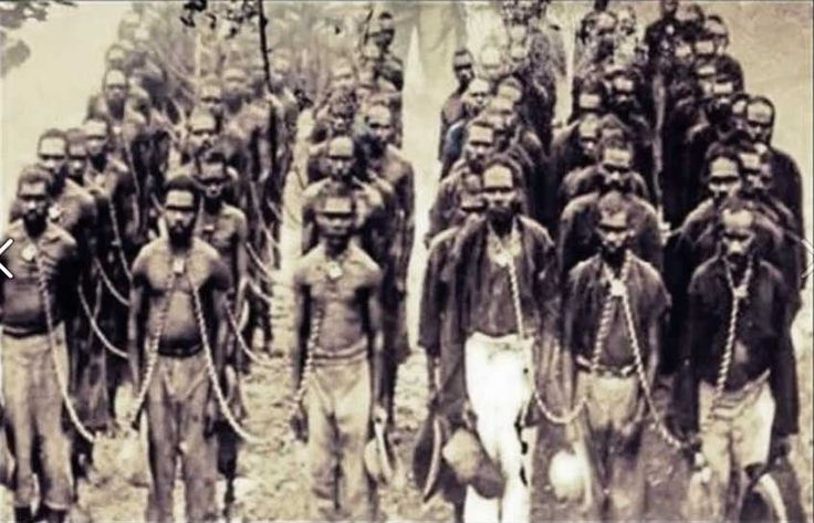 Aboriginal prisoners, Australia. Believed to be Forrest River (closest prison Wyndham). This is the place where The Forrest River massacre (Oombulgurri massacre) took place in 1926.