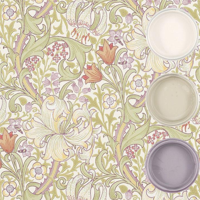 Tapet - Golden Lily - Inspiration: Auro ekologisk färg och ytbehandling