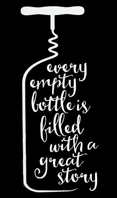 Wine - Every Empty Bottle 2 // 14x23 // $65 #WineHumor #WineWednesday