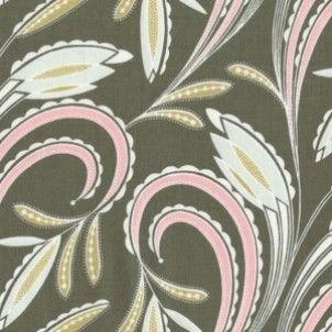 Perrymint Scroll in Green - CLEARANCE - Designer Fabrics