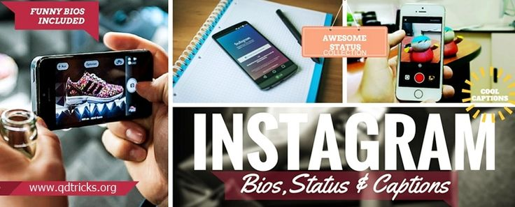 Here are some cool and creative instagram bios for boys and girls to drive more followers to your instagram account.