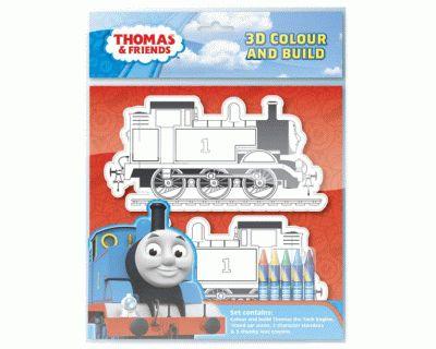 Thomas de trein 3D colour and build - Speelgoed - Treinen - Collectie - Thomas de Trein Accessoires - Interstat - THO435584
