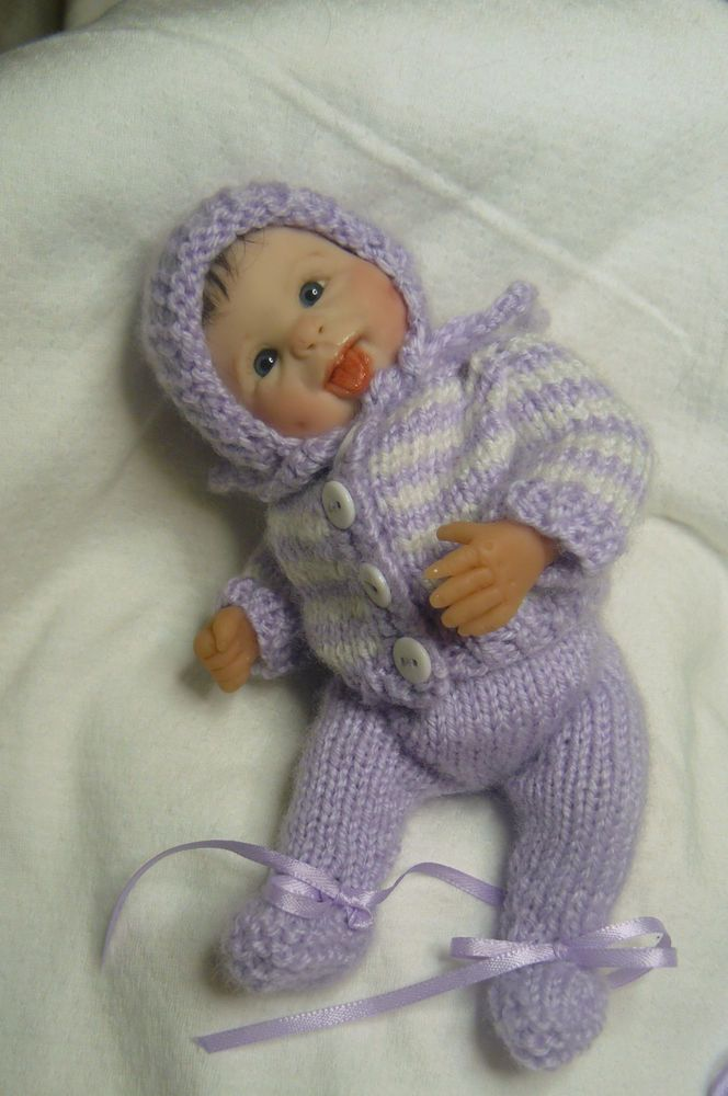 OOAK Original Artist Sculpt Polymer Clay Art Doll 7 inch  - Baby Laverne | eBay