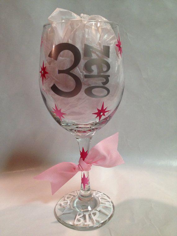 30th Birthday Wine Glass on Etsy, $20.00