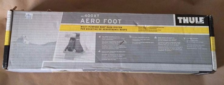 Unused THULE Aero Foot No. 400XT. To Be Used With a Compatible THULE Roof Rack System. Contains 4 Aero Feet. Parts are Unused. Box was Opened for Verfication and Photos Only. Box Shows Much Wear and is in Poor Condition.   eBay!