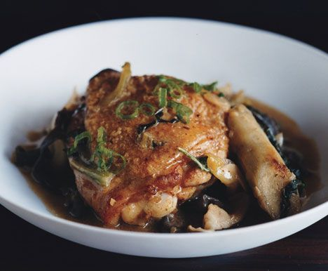 Miso Claypot Chicken by by David Chang        Clay-Pot Miso Chicken Recipe  at Epicurious.com