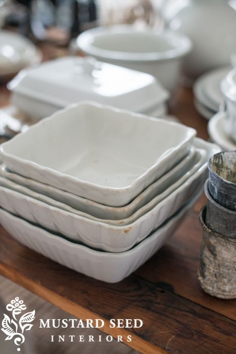 Last Week\u0027s Finds - Miss Mustard Seed white ironstone square bowls & 144 best White Ironstone images on Pinterest | White dinnerware ...