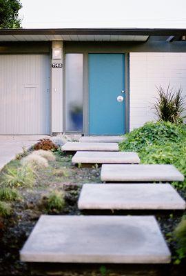 Blue Mid-Century Eichler Door