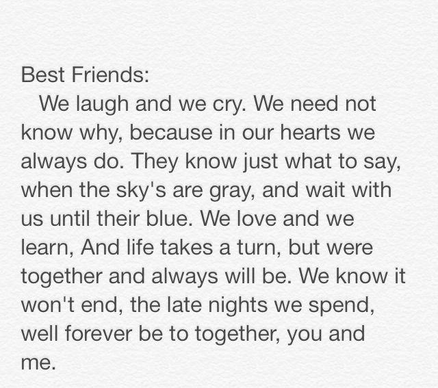 girl best friend poems - photo #8