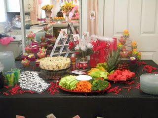 Party Food! Queen of Hearts Table http://littlemissinc.wix.com/littlemissweddings