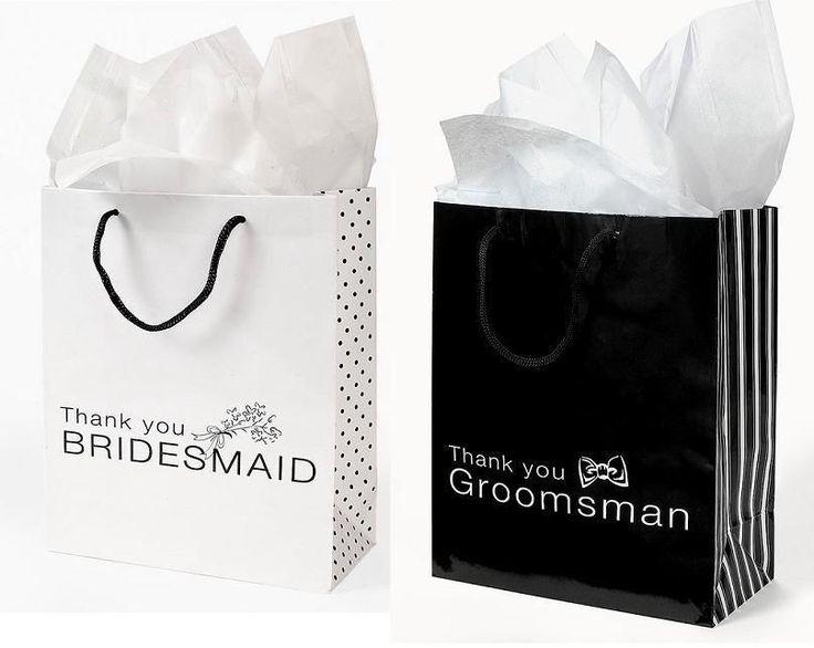 8 BRIDESMAID GROOMSMEN BAGS BRIDAL SHOWER WEDDING FAVORS GIFT WEDDING PARTY